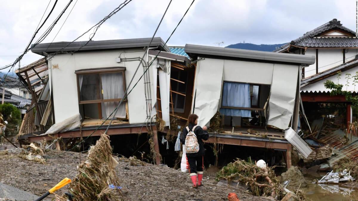 台風19号陸上