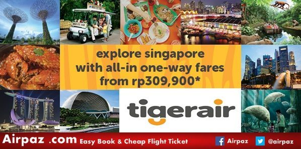 Promo to Singapore - Tigerair - airpaz