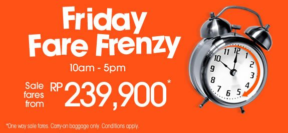Promo Jetstar - Friday fare Frenzy 17 October 2014