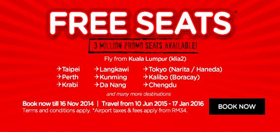 Free Seat Airiasia