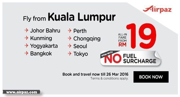 Cheap Flights From Airasia  only RM19