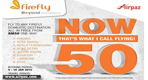 Promo New Year and Cheap Flights From Firefly