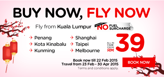 Promo Airasia Till 22 February 2015