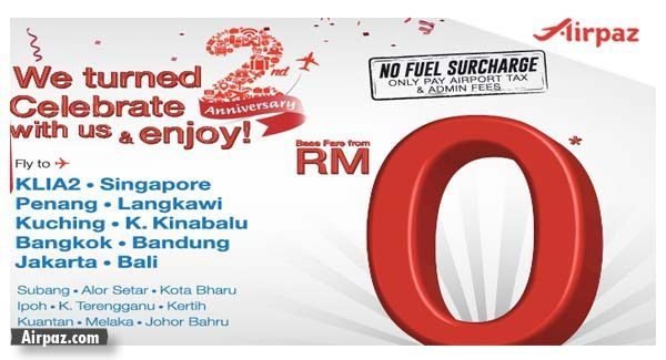 Promo Flight For Malindo Anniversary 2nd