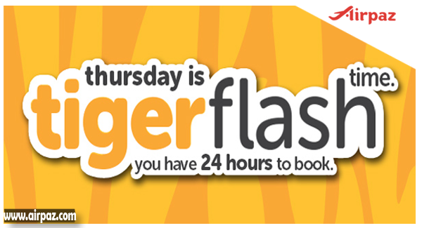 Promo Tiger Flash One Day Only on Airpaz