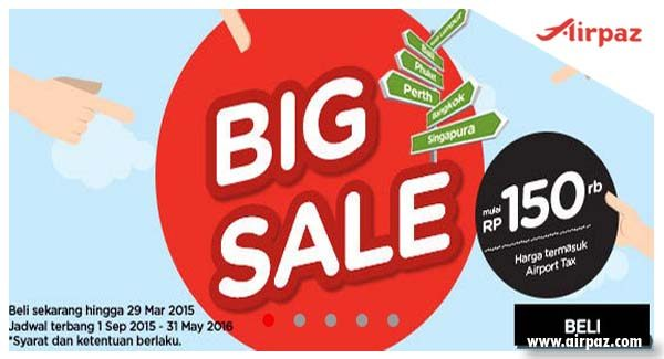 Big Sale AirAsia Till 29 March 2015