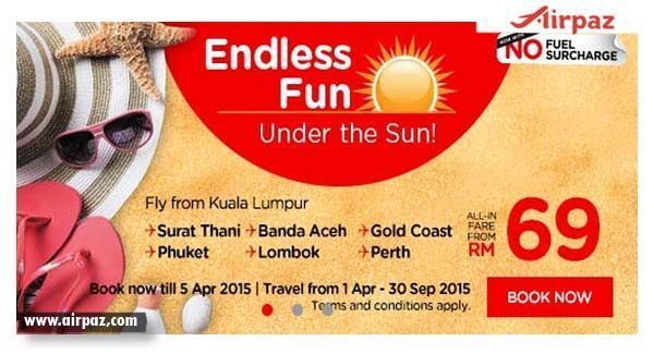 Promo AirAsia Summer Season Till 05 April 2015