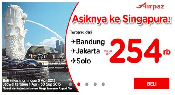 Promo AirAsia ke Singapore s-d 5 April 2015