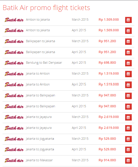 Promo Tiket Pesawat Murah Batik Air