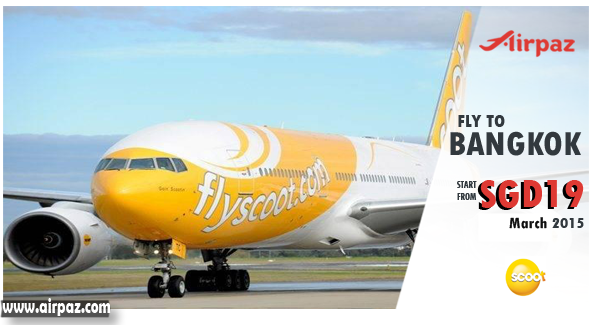 Promo and Cheap Flights Scoot Airlines  to Bangkok