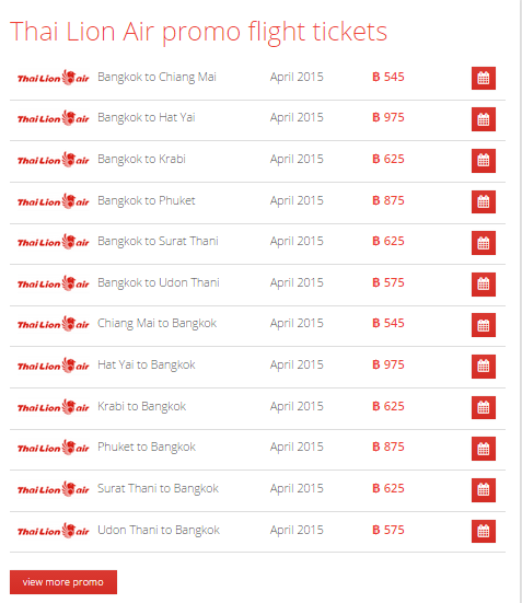 Sale on Promo Thai Lion Air