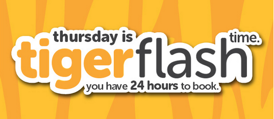 Tiger Flash Promo 24 Hours To Book