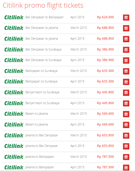 Tiket Pesawat Promo Citilink Bandung - Denpasar 2015