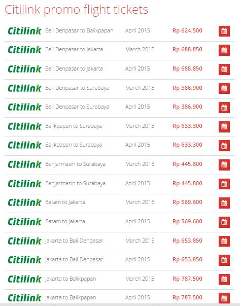 Promo Tiket Pesawat Murah Citilink Denpasar 2-5 Maret 2015