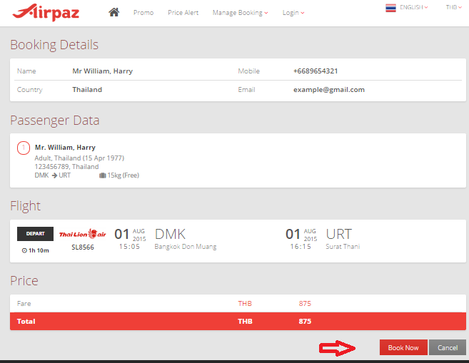 Now Airpaz.com accept 123 Service (2C2P) for Payment Method 1d