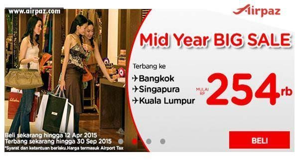 Promo AirAsia Mid Year Sale ke Bangkok sd 12 April 2015