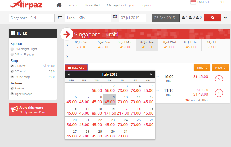 Promo AirAsia from Singapore  April 2015 on Airpaz 2