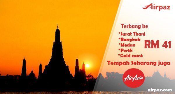 Promo Airasia Malaysia till 26 April 2015