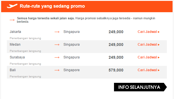 Promo Jetstar ke Singapore hingga 24 April 2015