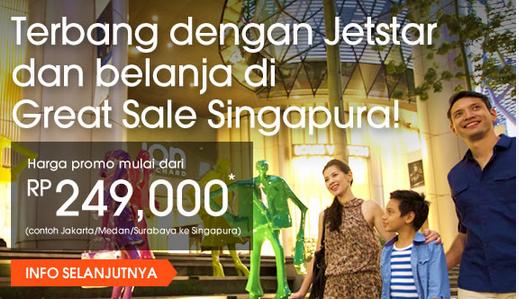 Promo Jetstar ke Singapore