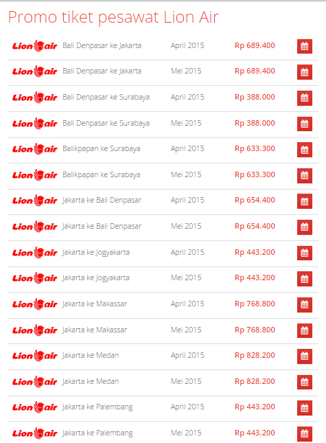 Promo Lion Air April  2015  di Airpaz