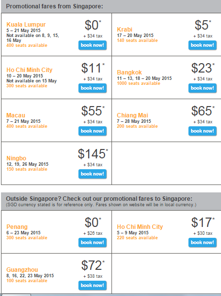Promo Singapore Start From $0 on Airpaz