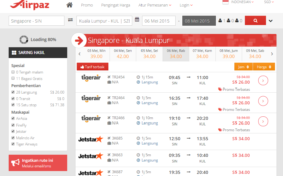 Promo Singapore Start From $0