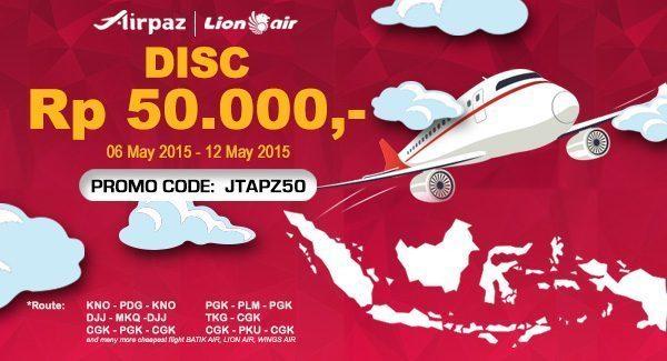 Promo Tiket Pesawat Lion Air di Airpaz.com