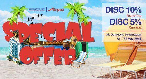Promo Tiket Pesawat Sriwijaya Air di Airpaz.com