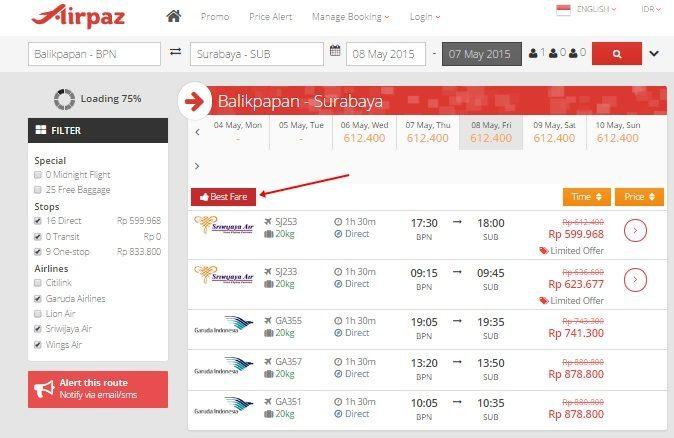 Tips Harga Tiket Pesawat Murah Sriwijaya Air di Airpaz