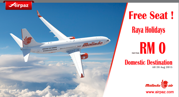 Free Seats Malindo Air June 2015