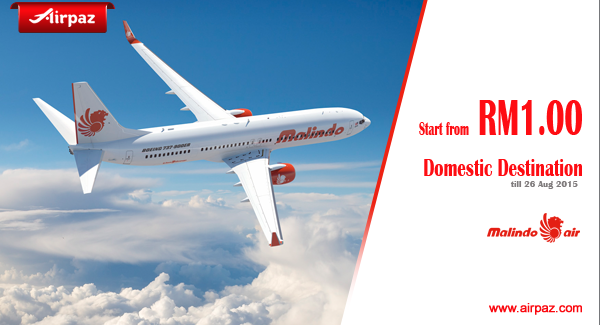 Promo Malindo Air Start From RM 1 Till Aug 2015