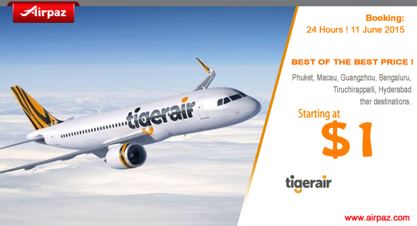 Promo Tiger Air on Airpaz
