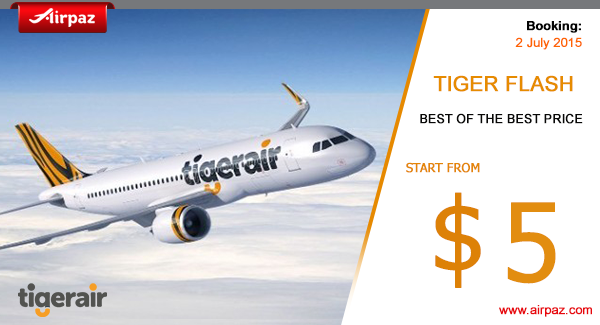 Tiger Flash Promo 2 July 2015 Airpaz