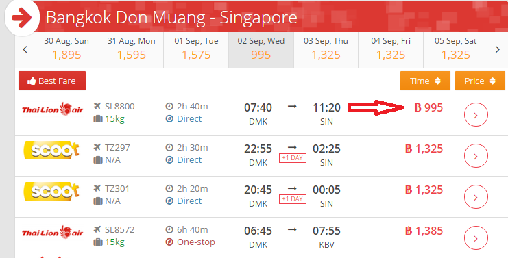 Hot Promo Thai Lion Air to Singapore on Airpaz 1