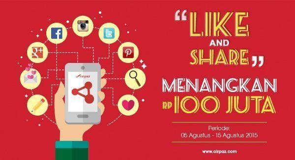 Like Share Menangkan 100 Juta Rupiah