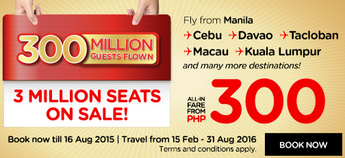 Promo AirAsia 3 Million Seats on Sale till 16 August 2015 1