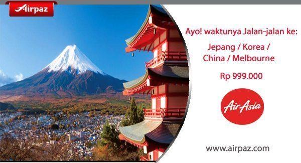 Promo AirAsia ke Jepang di Airpaz