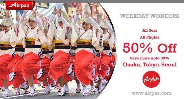 Promo AirAsia to Osaka Discount 50 percent