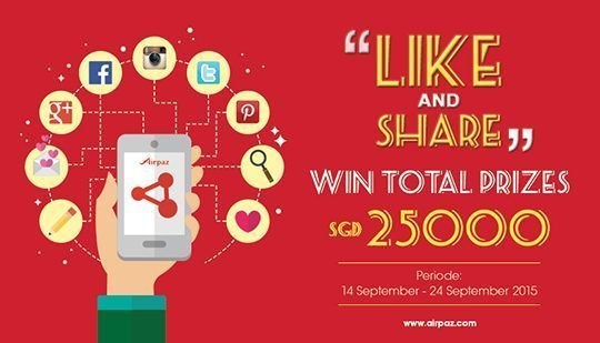 Like and Share Win Big Bonus From Airpaz