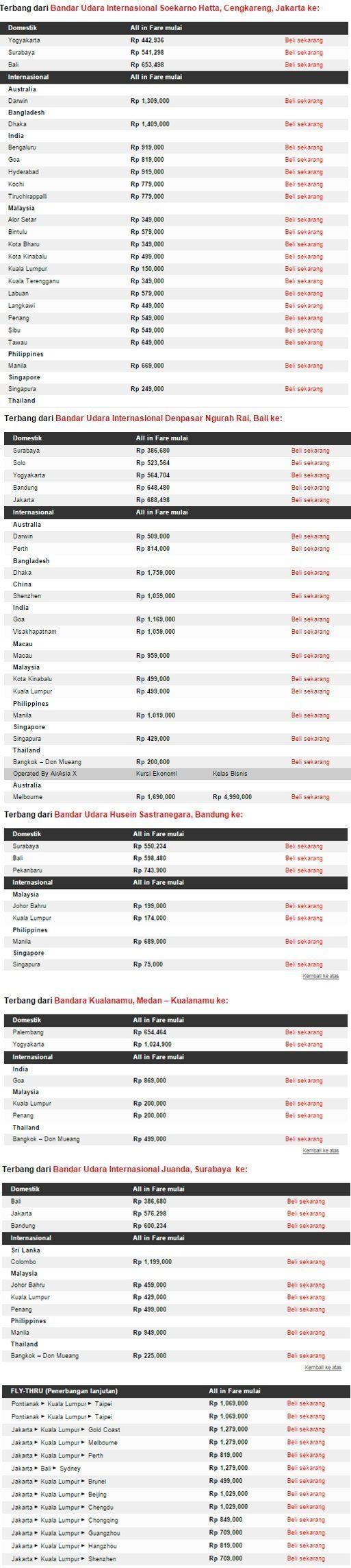 Promo AirAsia Big Sale CUMA 150 Ribu di Airpaz