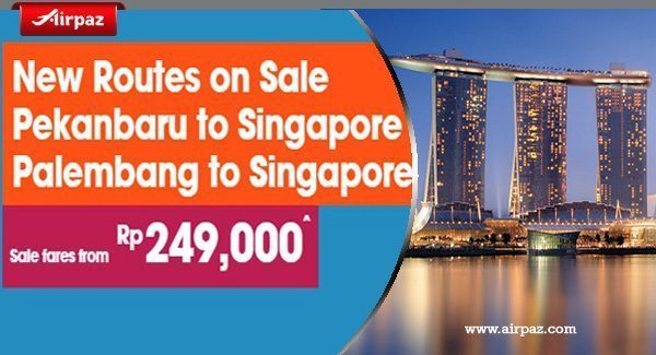 Promo New Route of Jetstar to Singapore on Airpaz