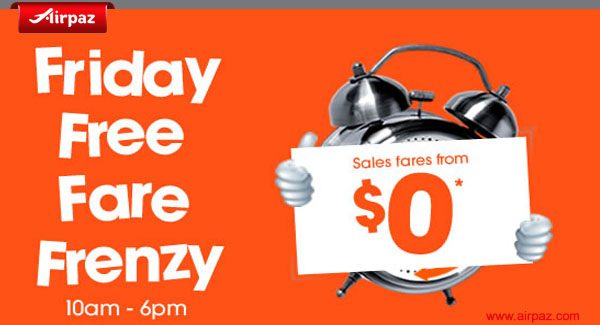 Airpaz Jetstar Friday Free Fare Frenzy