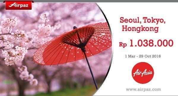 Hot Promo AirAsia ke Jepang - Korea - Hongkong hingga 25 Oktober 2016