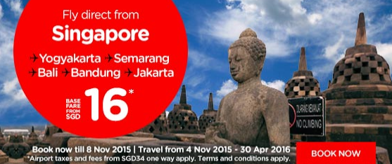 AirAsia 50 percent off Singapore Flights Promo till 8 Nov 2015 1