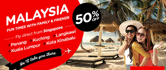 AirAsia 50 percent off Singapore Flights Promo till 8 Nov 2015