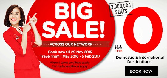 AirAsia Thailand Big sale