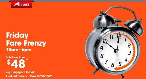 Airpaz Jetstar Friday Free Fare Frenzy 27 nov