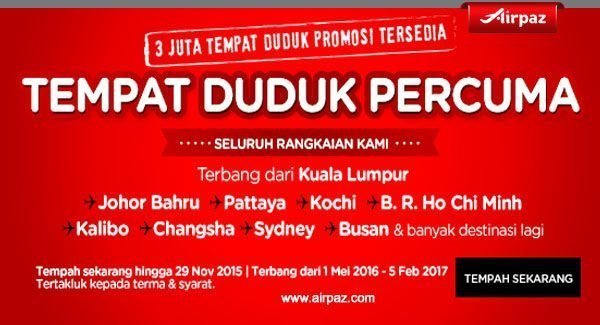 Airpaz Malaysia 23 November 2015