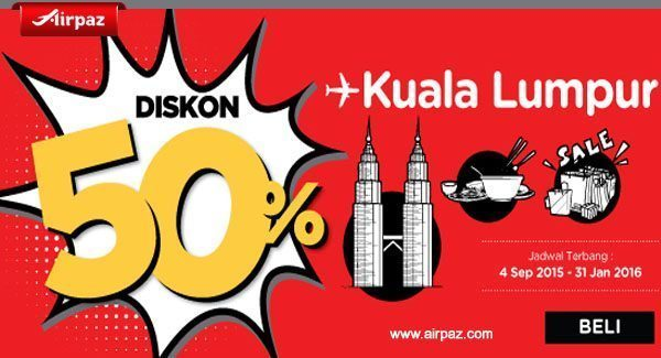 Indonesia Airpaz Promo 16 November 2015
